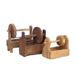 EUR471 Vintage Wooden Flax...