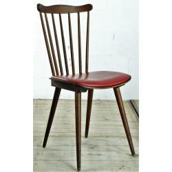 CHR182 French Red Vinyl Chair