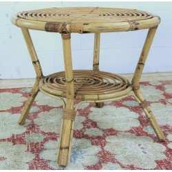 TB310 French Rattan Side Table