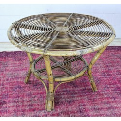 TB330 French Rattan Side Table